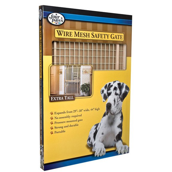 Wire Mesh Pet Gate - Adjustable / Extra Tall - 29.5-50 Inch Best Price
