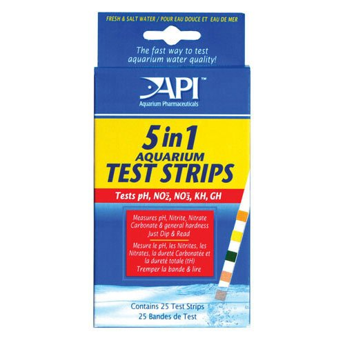 5 In 1 Aquarium Test Strips 25 Strips