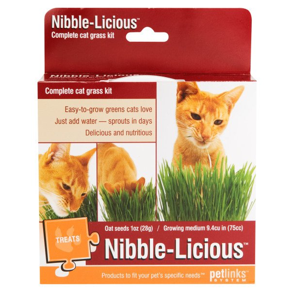 Nibble Licious Complete Cat Grass Kit