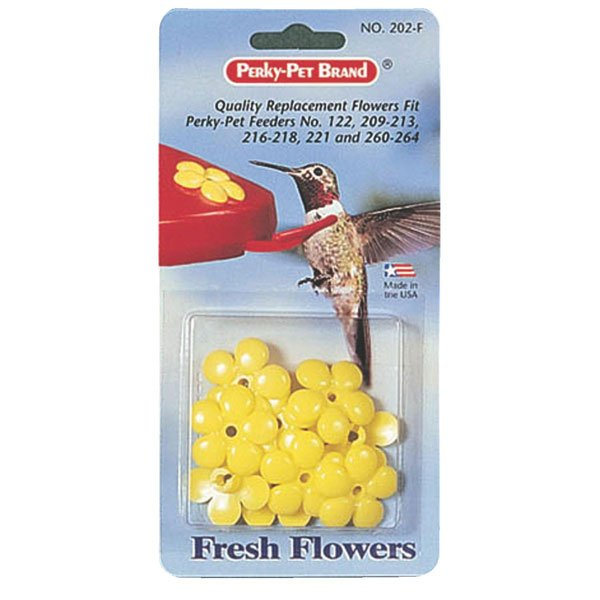 Perky Pet Hummingbird Feeder Replacement Yellow Feeding Flowers-set of 9 Best Price