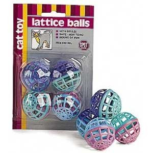 Lattice Ball Cat Toy - 4 pack Best Price