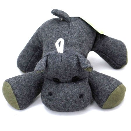 Eco Plush Dog Toy / Size (Large Hippo)