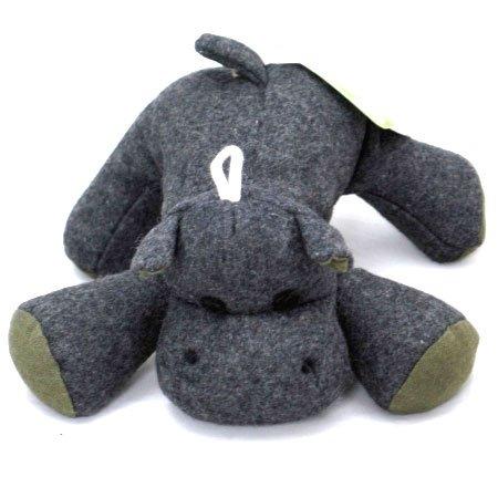 Eco Plush Dog Toy / Size (Large Hippo)