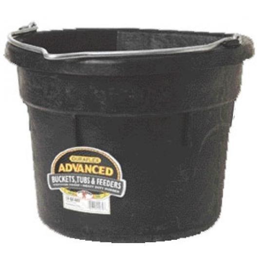 Flat Back Rubber Bucket 18 Qt / Black Best Price