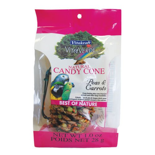 Natural Candy Cone For Birds Peas And Carrot