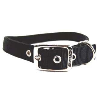 Black Double Thick Dog Collar 1 Inch / Size 26 In. / Black