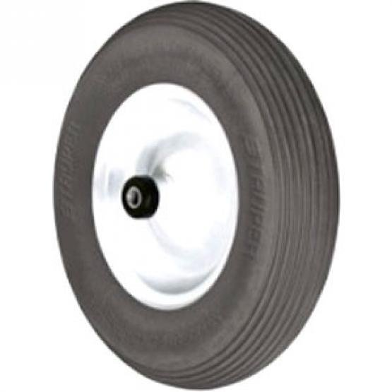 16 in. Flat Free Wheelbarrow Tire with Rim Best Price
