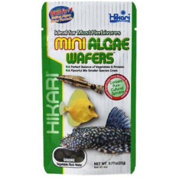 Mini Algae Wafers For Herbivore Fish 0.77 Oz.
