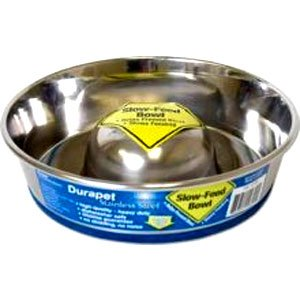 Slow Feed Stainless Dog Bowl / Size (Small) Best Price