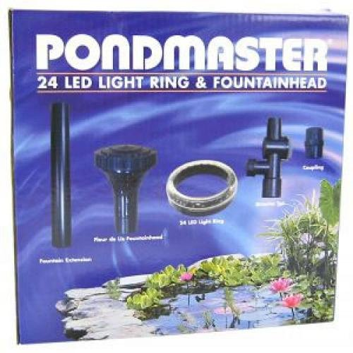 24 Led Ring With Fountainhead For Ponds
