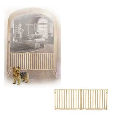 Extra-Wide Wood Pet Gate - 53-96IN X 24IN Best Price