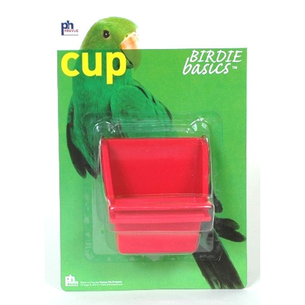 High Back Plastic Cups for Pet Birds - 2 oz / 2pk. Best Price
