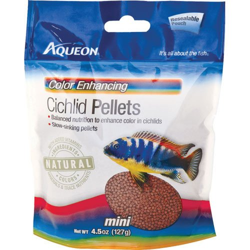 Aqueon Cichlid Color Pellets - 4.5 oz. - Pouch Best Price