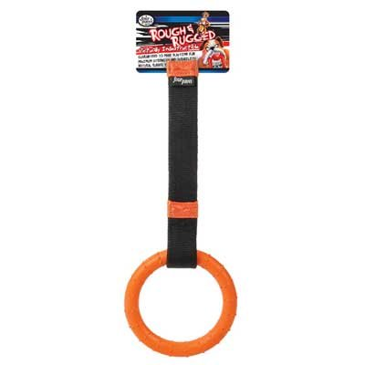 Rough and Rugged Fire Hose Tug/w Ring Dog Toy