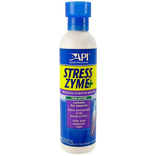 Stress Zyme Aquarium Water Conditioner / Size 8 Oz.