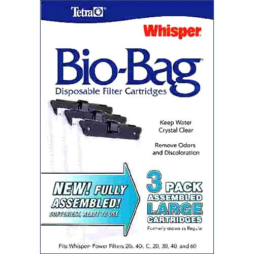 Whisper Bio Bag Cartridges / / Large/3pk/assembled