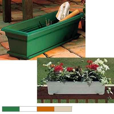 Countryside Flower Boxes  / Size (Medium / Dark Green)