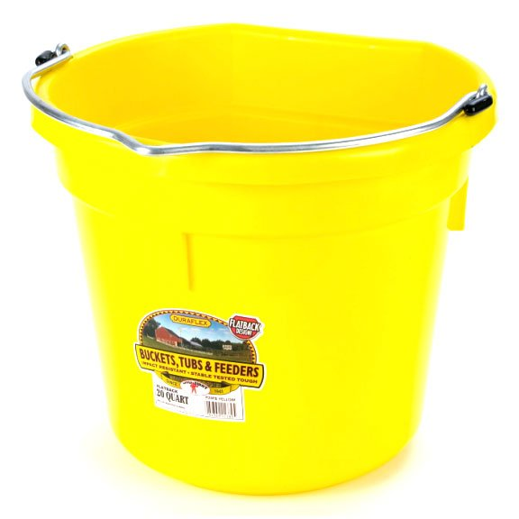 20 Quart Flatback Bucket / Color (Yellow) Best Price