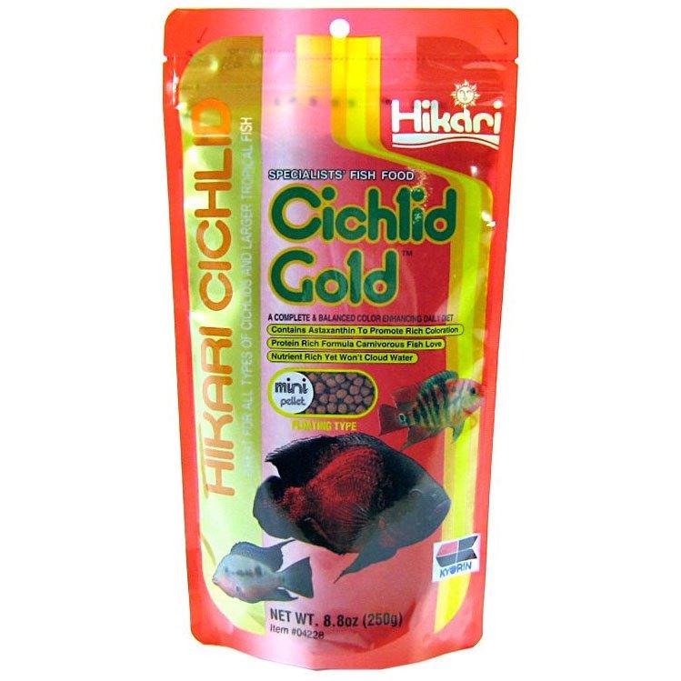 Hikari Cichlid Gold Pellet Fish Food 8.8oz Mini