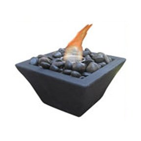 Black Square Gel Fire Bowl Best Price