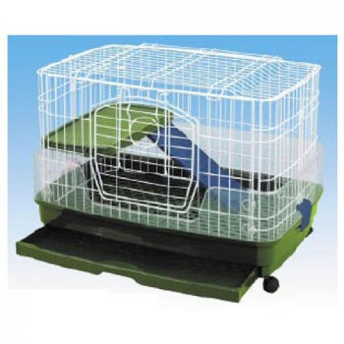 Medium Clean Living Cage for Small Pets - 2 Levels Best Price
