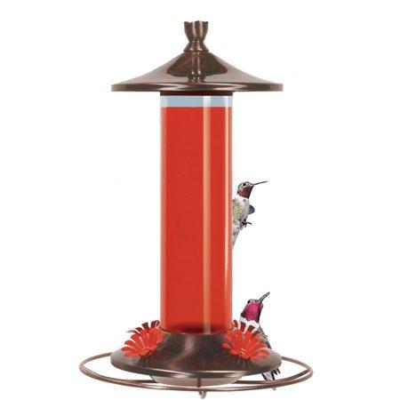 Birdscapes Brushed Metal Hummingbird Feeder 12oz