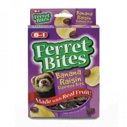 Ferret Bites Banana Raisin Treats 4 Oz.