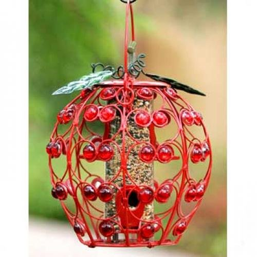 Bejeweled Apple Bird Feeder Best Price