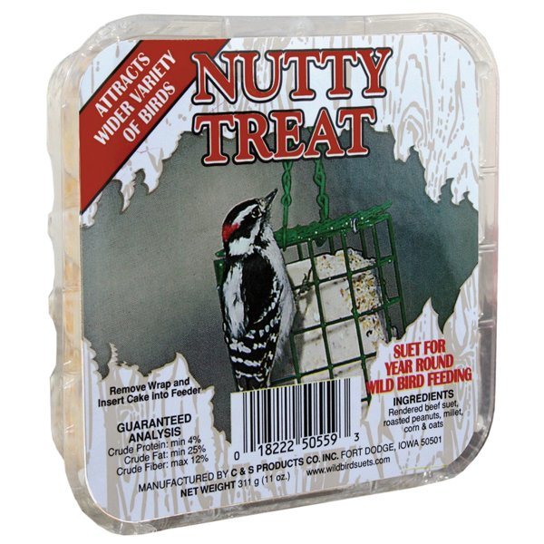 Nutty Suet Treat for Wild Birds  (Case of 12) Best Price