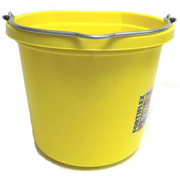 Flat Back 20 quart Bucket / Color (Light Yellow) Best Price