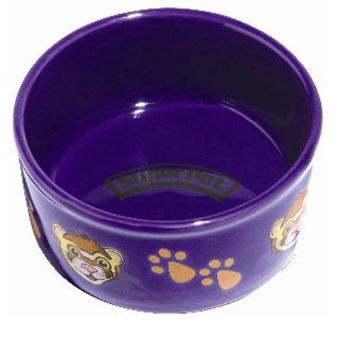 Ferret Pawprint Petware Ceramic Dish - 4.25 in. Best Price