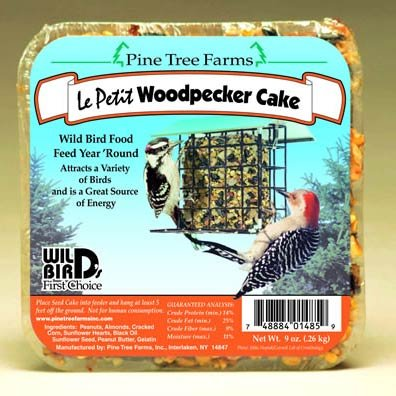 Le Petit Woodpecker Seed Cake 9 Oz.