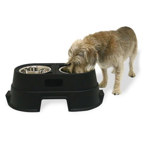 Healthy Pet Diner Elevated Feeder / Size (8 in Black) Best Price