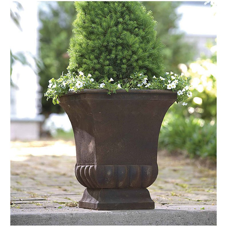 Rustic Metal Urn - 18 in. Best Price