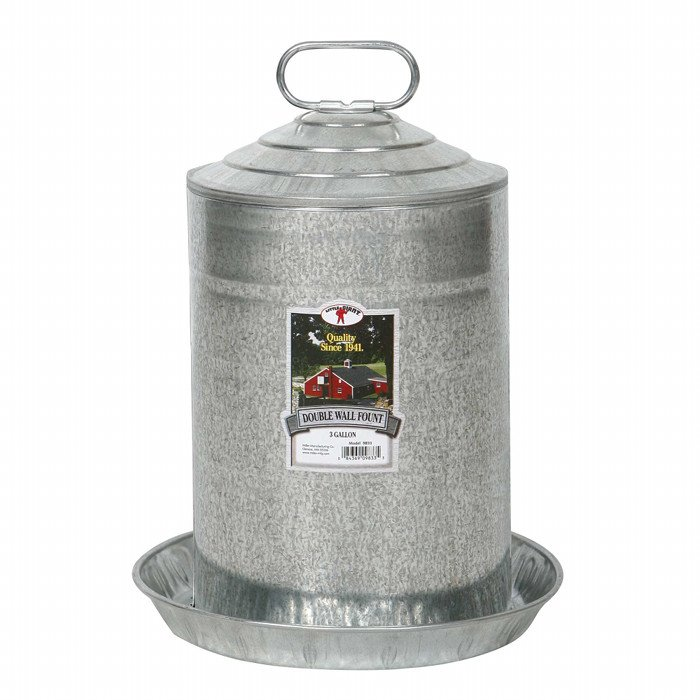 Galvanized Double Wall Fountains / Size (3 gallon) Best Price