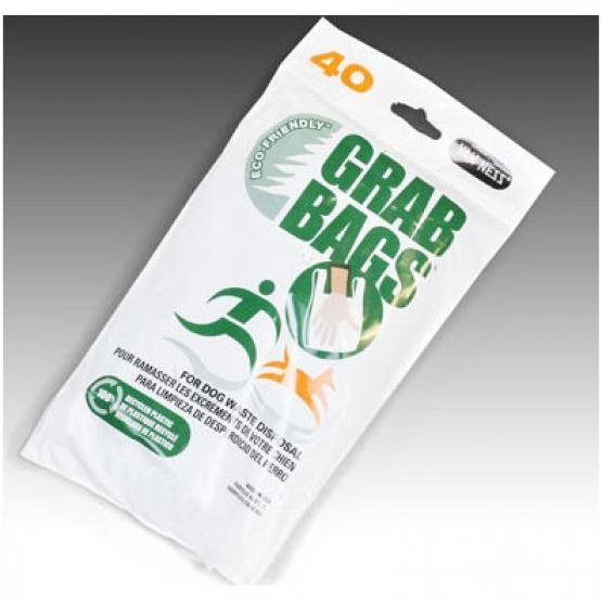 Grab-Bags for Dog Waste Pickup - 40 bags