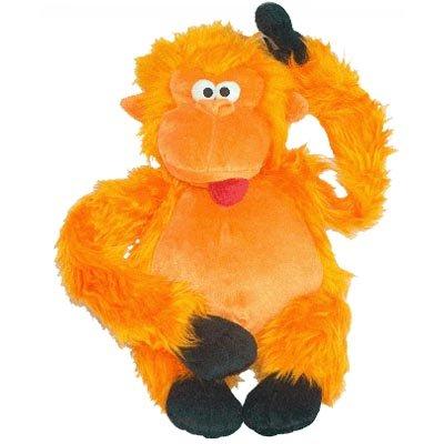 Colossal Plush Orange Gorilla Dog Toy 28 In.