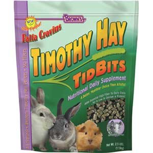 Timothy Hay Tidbits Rabbit Treat 2.5 lbs Best Price