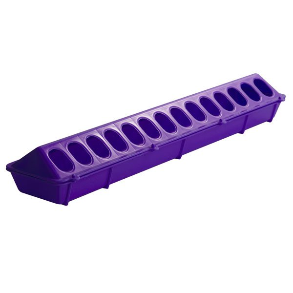 Flip-top Poultry Feeder 20 in / Color (Purple) Best Price