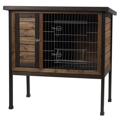Wood Outdoor 1-Story Rabbit Hutch - 36 in. Best Price