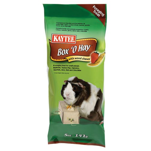 Box O Hay With Wood Chews Guinea Pig 0.5 Oz.