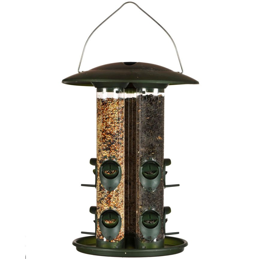 Perky Pet Triple Tube Wild Bird Finch Feeder