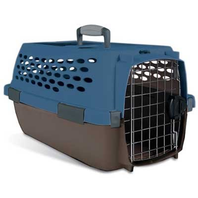 Kennel Cab Fashion Pet Carrier / Size (Small /Blue and Brown) Best Price