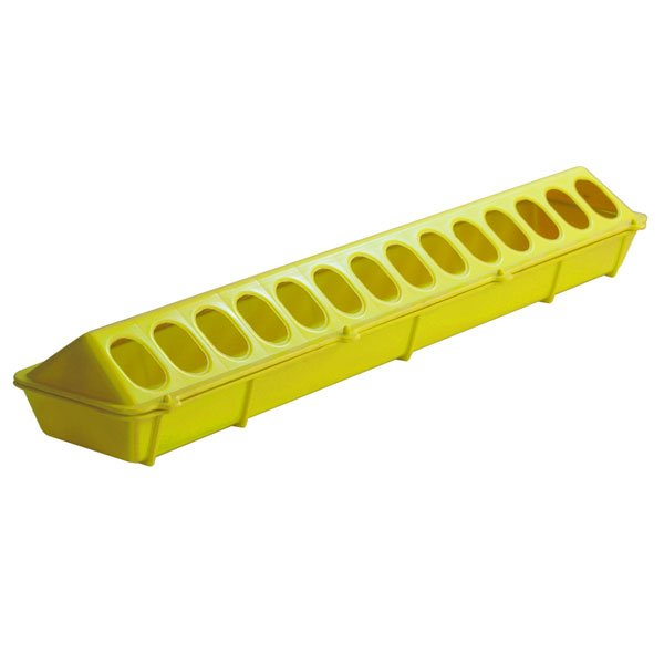 Flip-top Poultry Feeder 20 in / Color (Yellow) Best Price