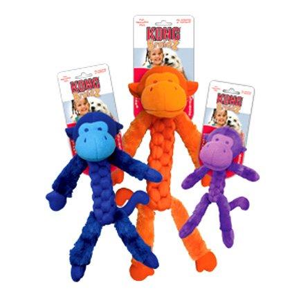 Braids Fuzzy Monkey Dog Toy / Size Medium