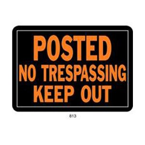 No Trespassing Sign  (Case of 12) Best Price