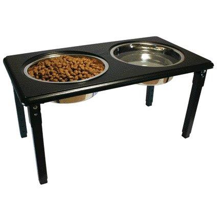 Posture Pro Adjustable Pet Double Diner / Size 1 Quart / Black