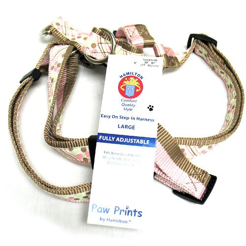 Adj. Easy On Dog Harness / Size (Dot Stripe 1 x 30-40 in.)