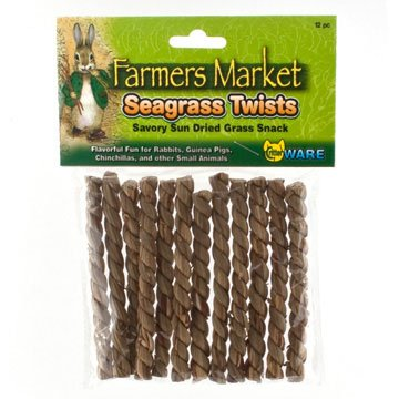 Seagrass Twists For Small Pets 12 Pack / 4 In.
