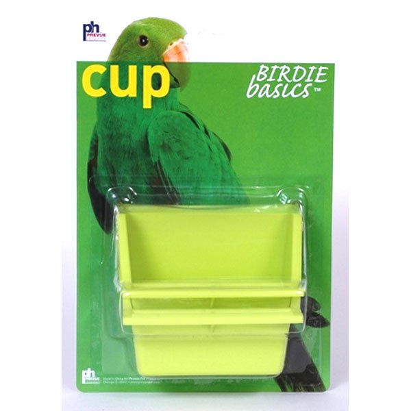 High Back Plastic Cups for Pet Birds - 4 oz / 2pk.